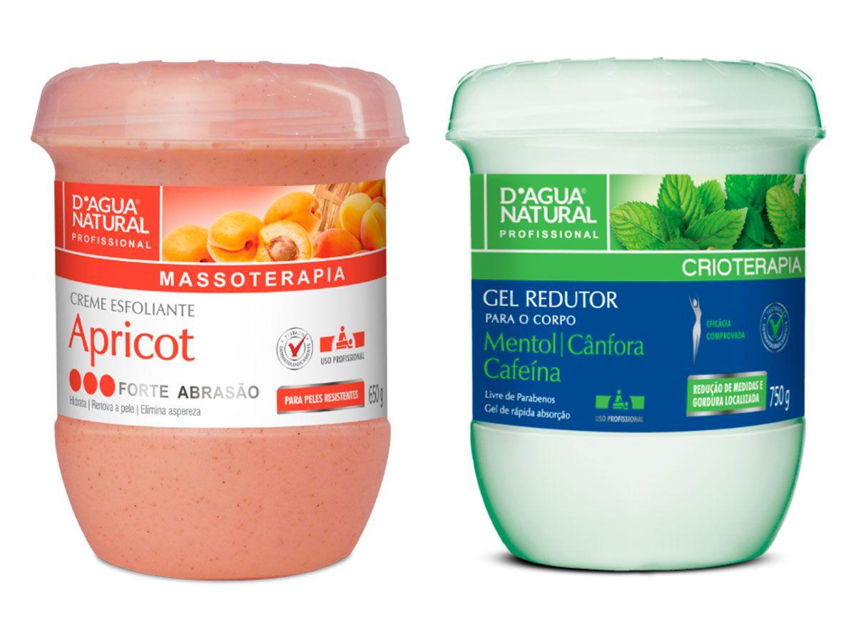Kit Gel Redutor e Esfoliante Forte Abrasão Dagua Natural