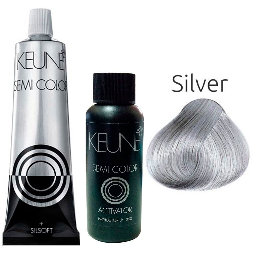 Kit Keune Semi Color 60ml - Cor Silver + Activator 60 ml