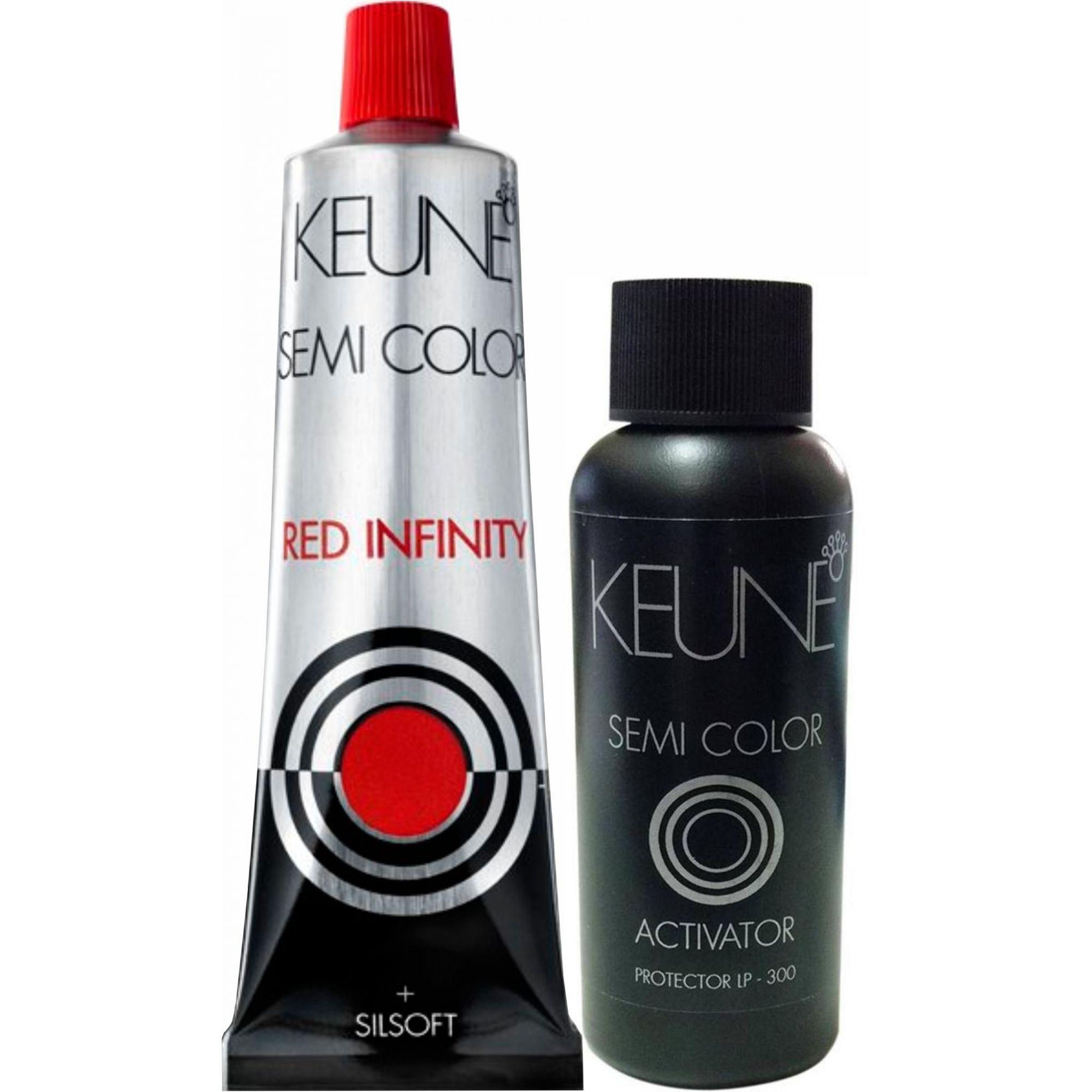 Kit Keune Semi Color RI 60ml - Cor 6.66 - Vermelho Intenso + Ativador de 60ml