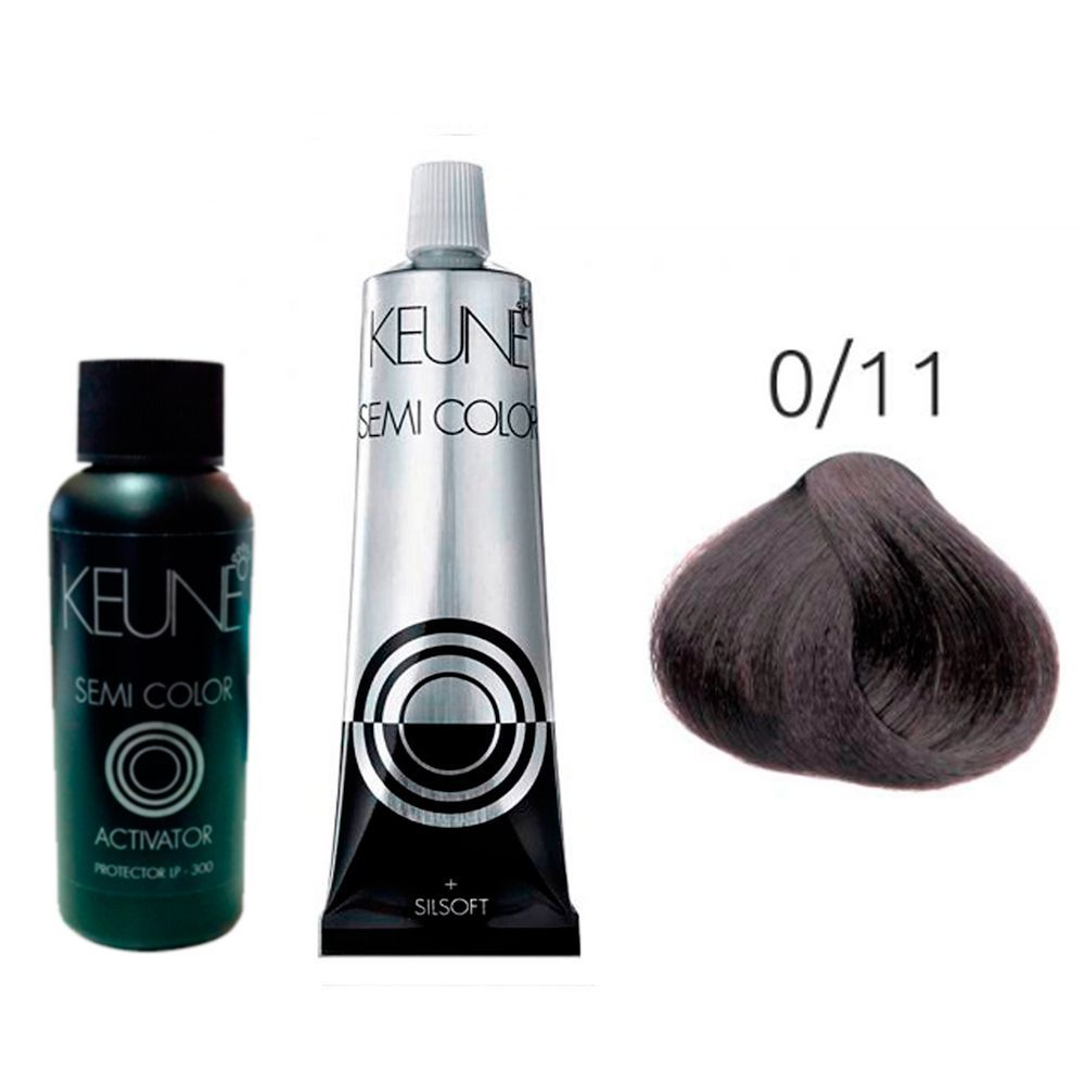 Kit Keune Tonalizante 60ml - Mix 0/11 - Azul Cinza + Ativador 60ml