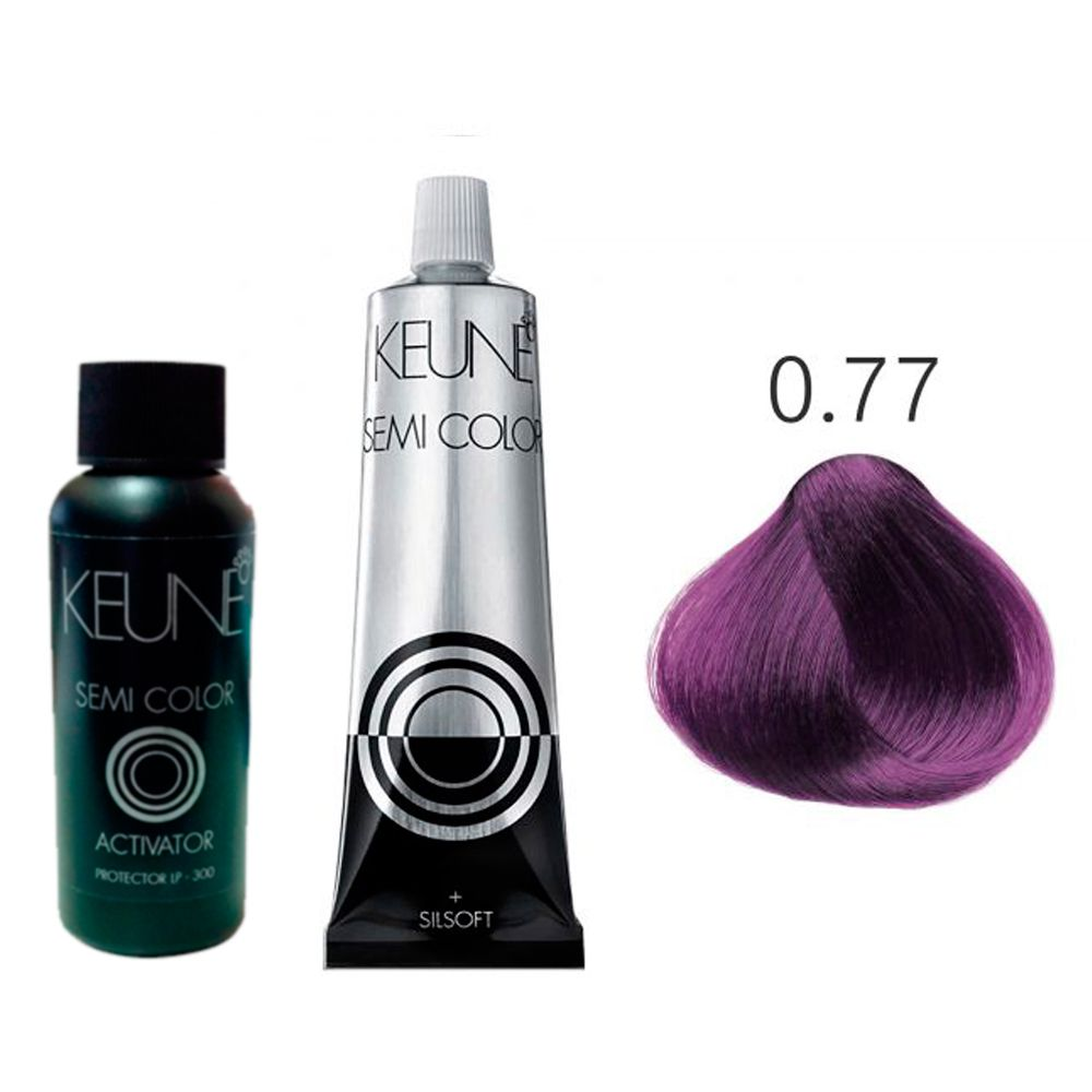 Kit Keune Tonalizante 60ml - Mix 0/77 - Violeta + Ativador 60ml