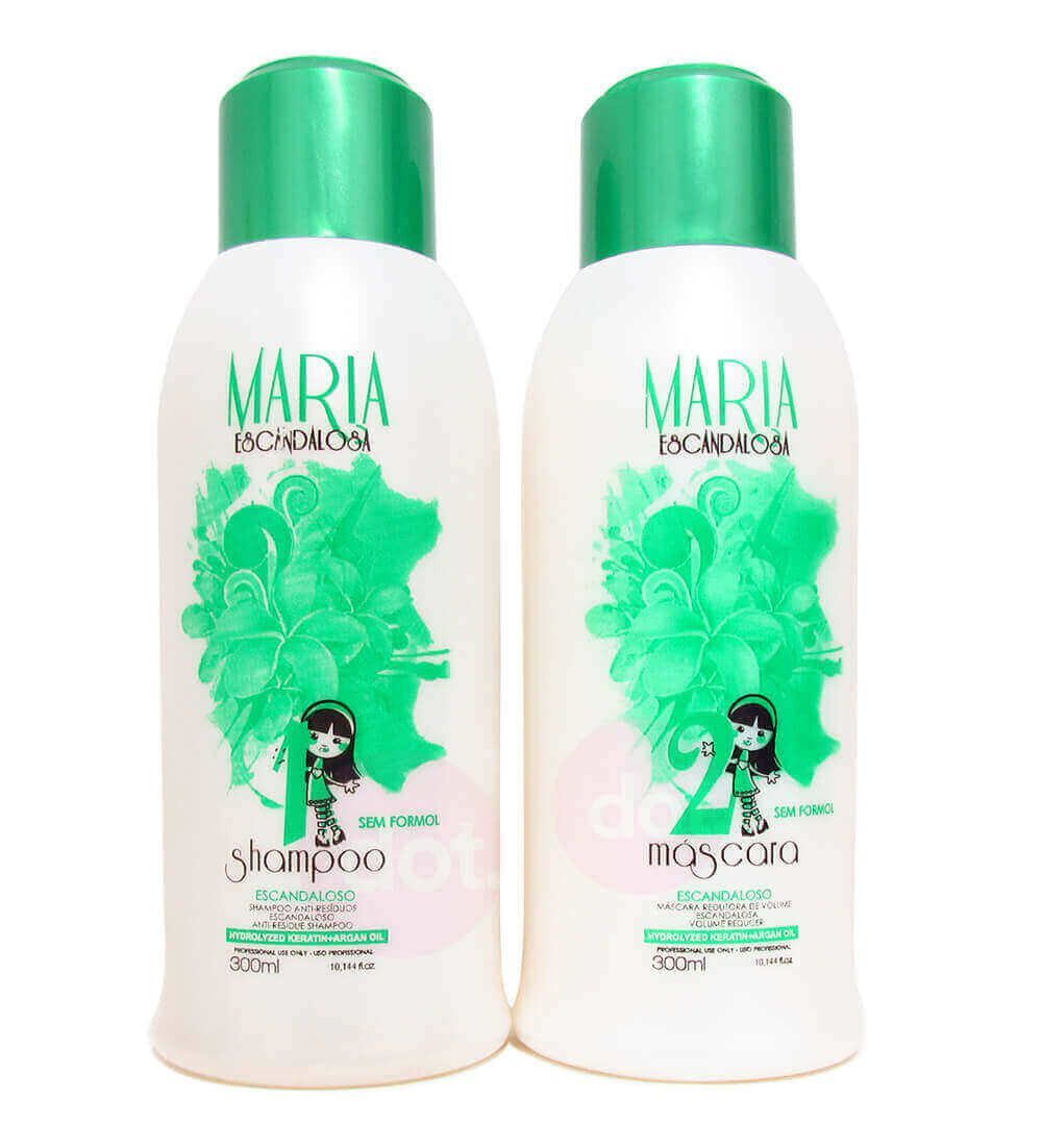 Kit Maria Escandalosa Escova Progressiva Sem Formol 2x 300ml