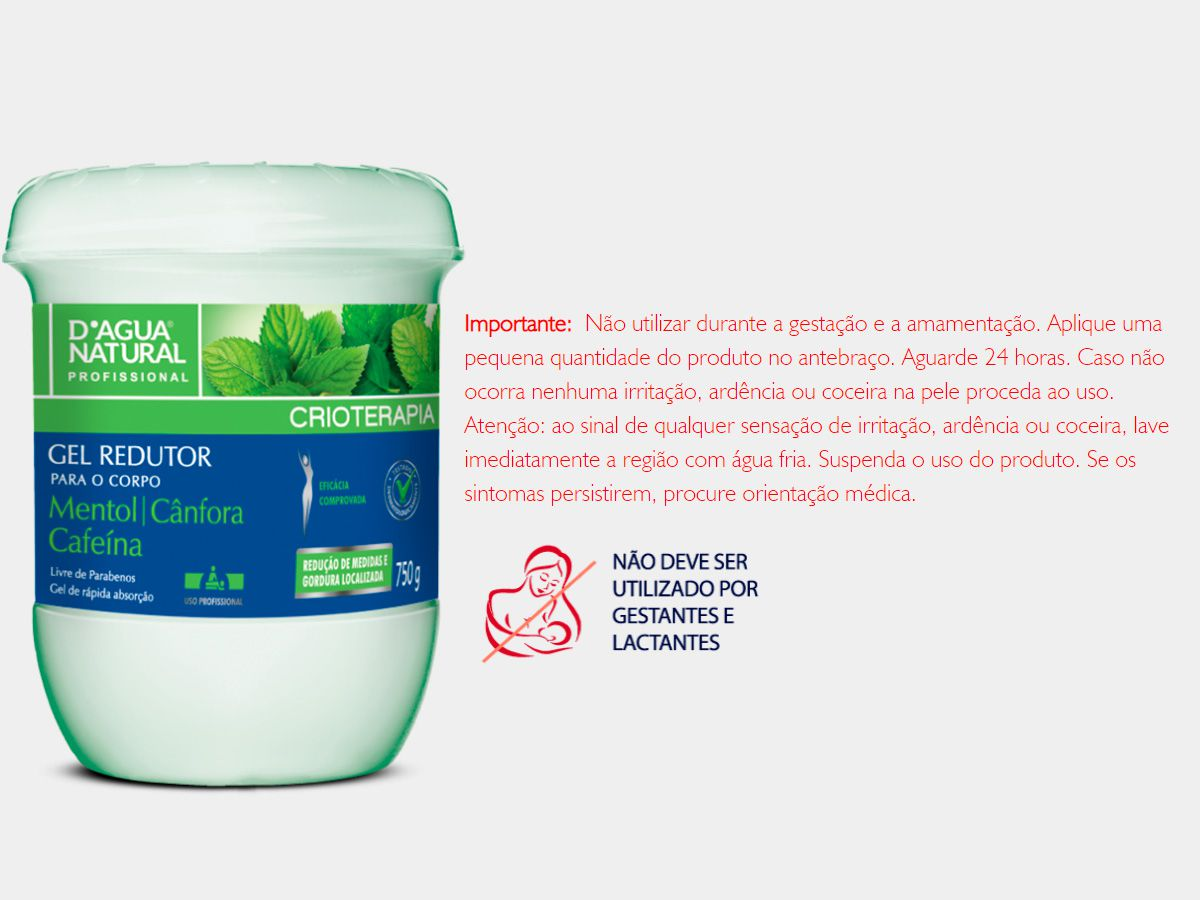Kit Massagem Cafeína 7 Ativos e Gel Redutor Dagua Natural