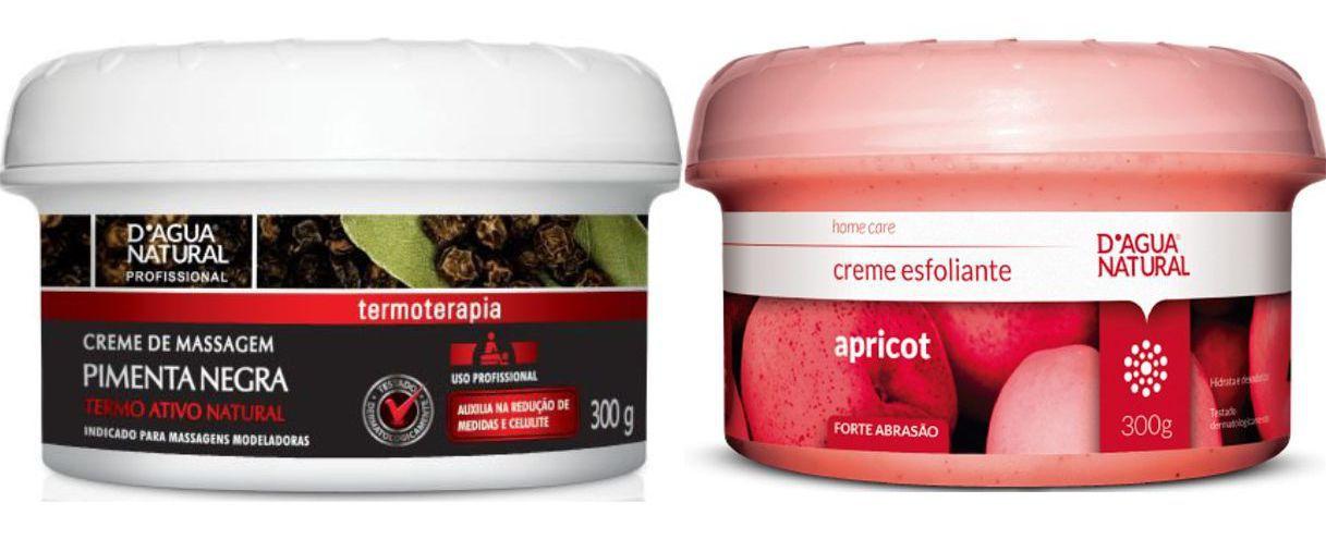 Kit Creme Pimenta Negra 650g  e  Creme Esfoliante Forte 300g Dagua Natural
