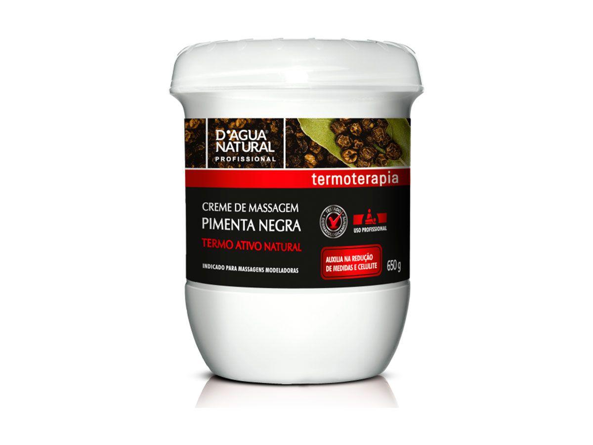 Kit Massagem Pimenta Negra, Gel Redutor e Creme Rosa Mosqueta + Argila Branca Dagua Natural