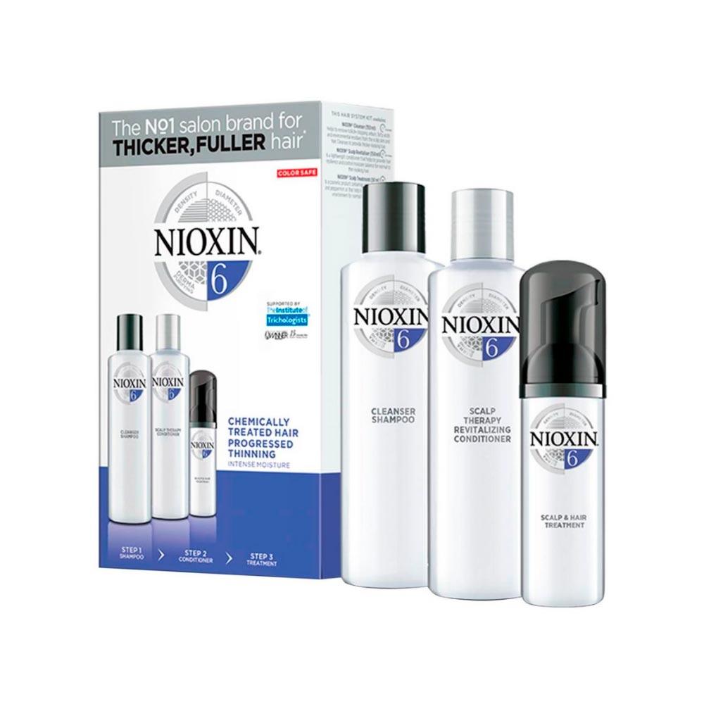 Kit Nioxin Hair System 6 - Shampoo 150ml + Cond 150ml + Scalp 40ml