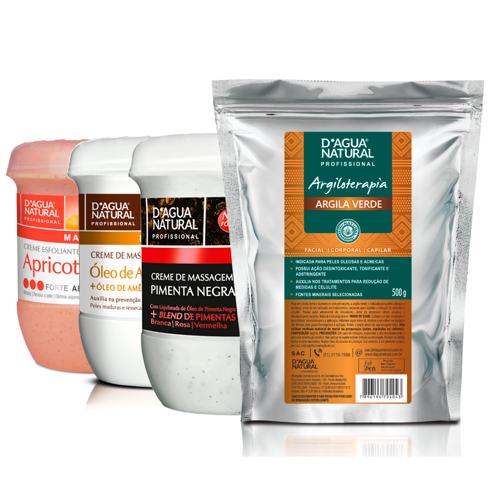 Kit Pimenta + Argan + Apricot Forte + Argila Verde