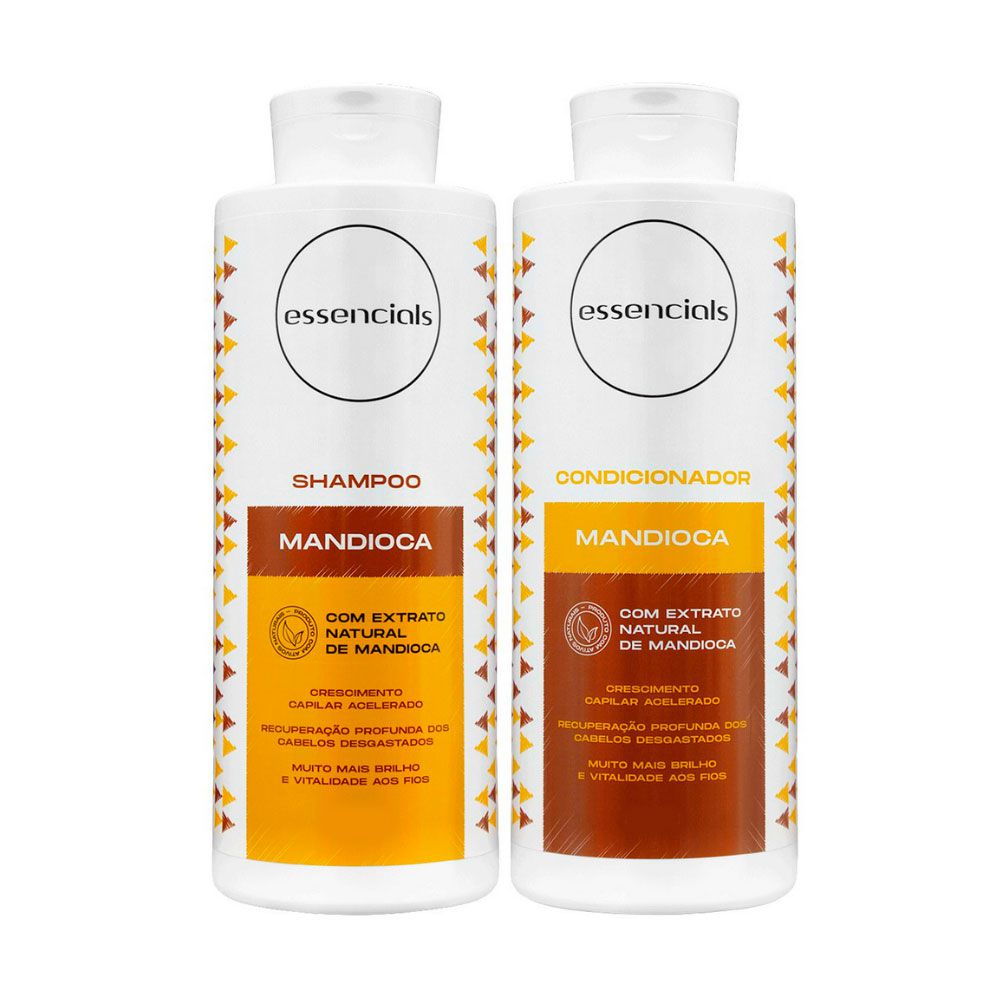 Kit Shampoo e Condicionador Essencials Day By Day Mandioca