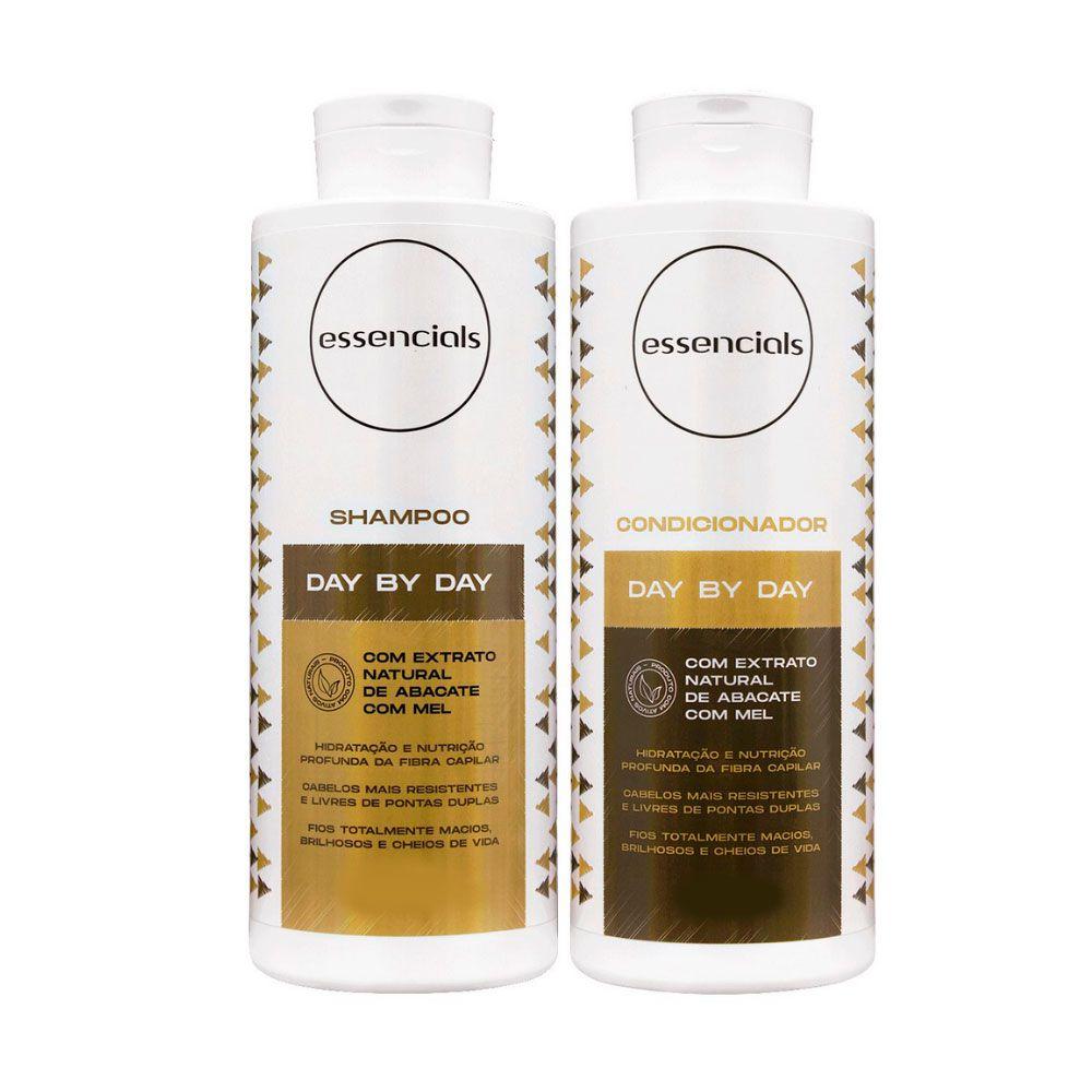 Kit Shampoo e Condicionador Essencials Day By Day Abacate e Mel