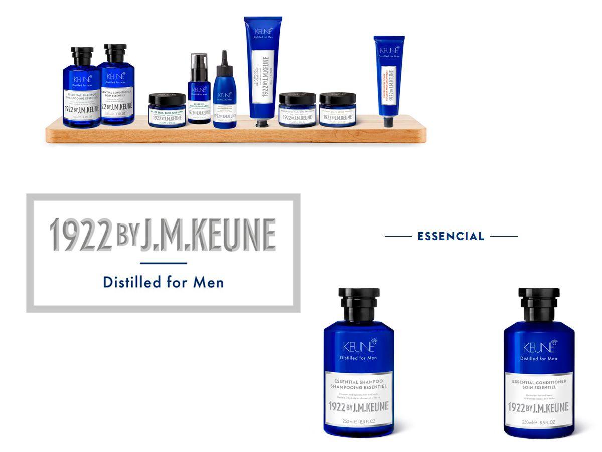 Kit Shampoo Essential 250ml + Pomada Premier 75ml By J.M Keune 1922