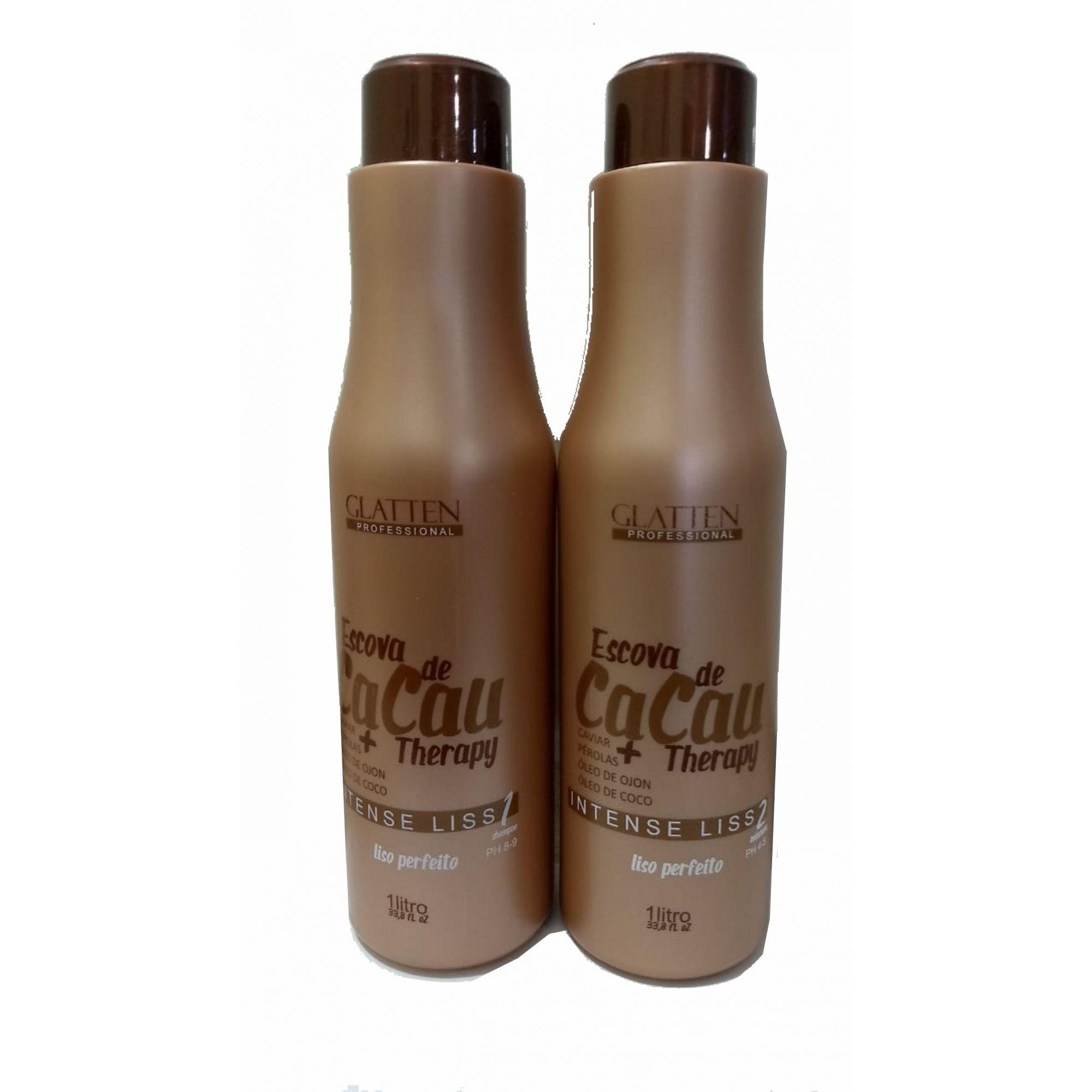 Kit Shampoo + Máscara Escova de Cacau Glatten 1L