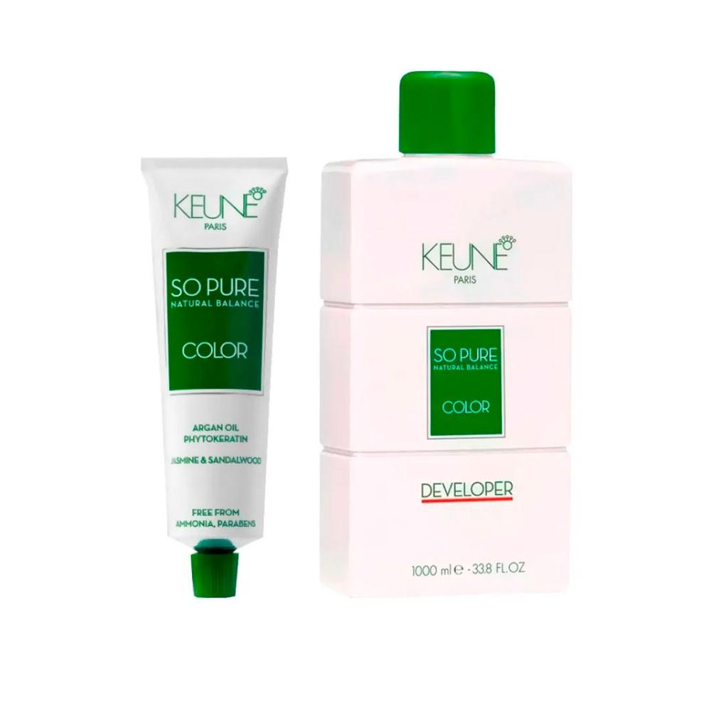 Kit So Pure 10.21 Louro Extra Claro Perola Cinza + 1 Oxidante So Pure 30Vol 1000ml