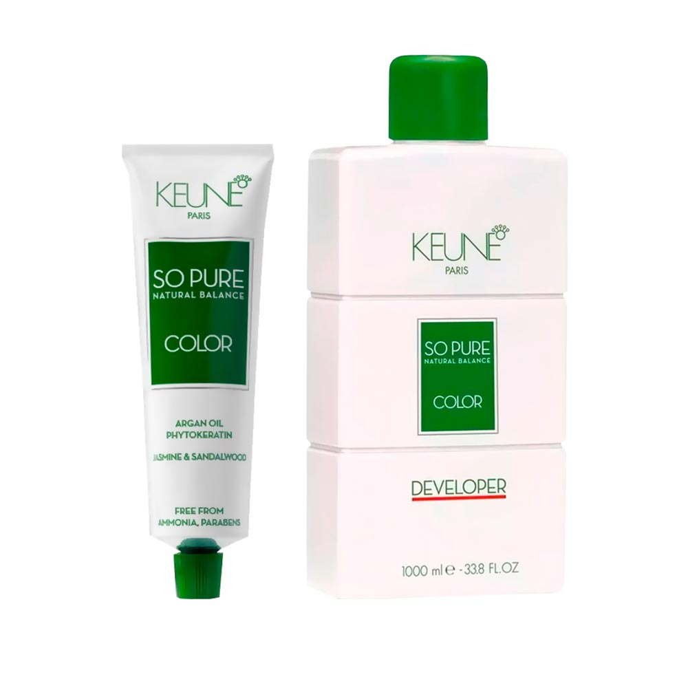 Kit So Pure 5 Castanho Claro + 1 Oxidante So Pure 20Vol 1000ml