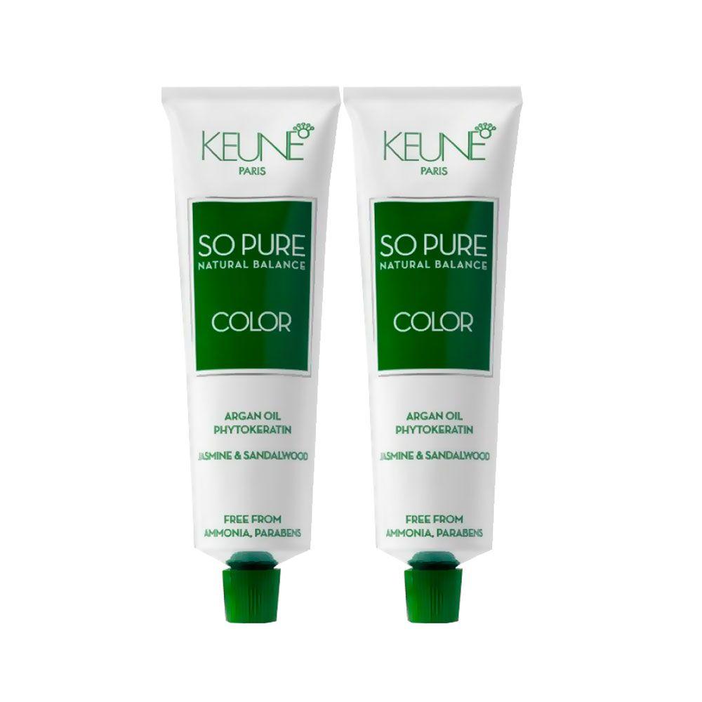Kit Tinta Keune So Pure 4.45 Castanho Médio Mogmo + So Pure 5.6 Castanho Claro Vermelho