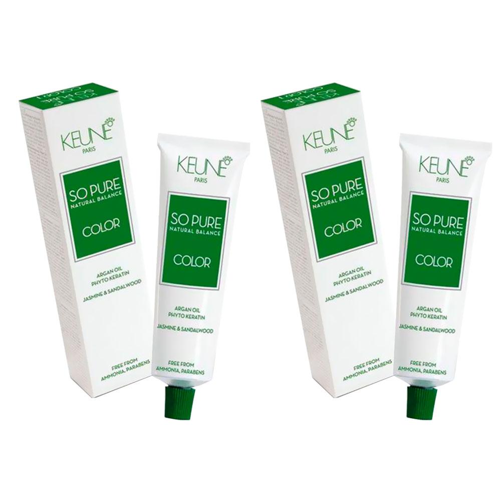 Kit Tinta Keune So Pure 60ml - Cor 7 + Keune So Pure 60ml - Cor 7.22
