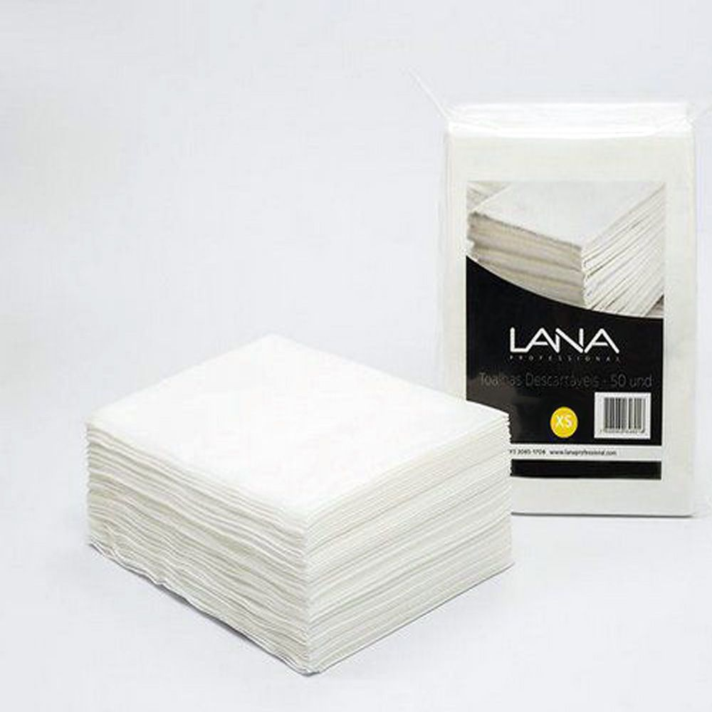 Kit Toalha Descartável Lana  25X35 - 100un Manicure Pedicure Multiuso