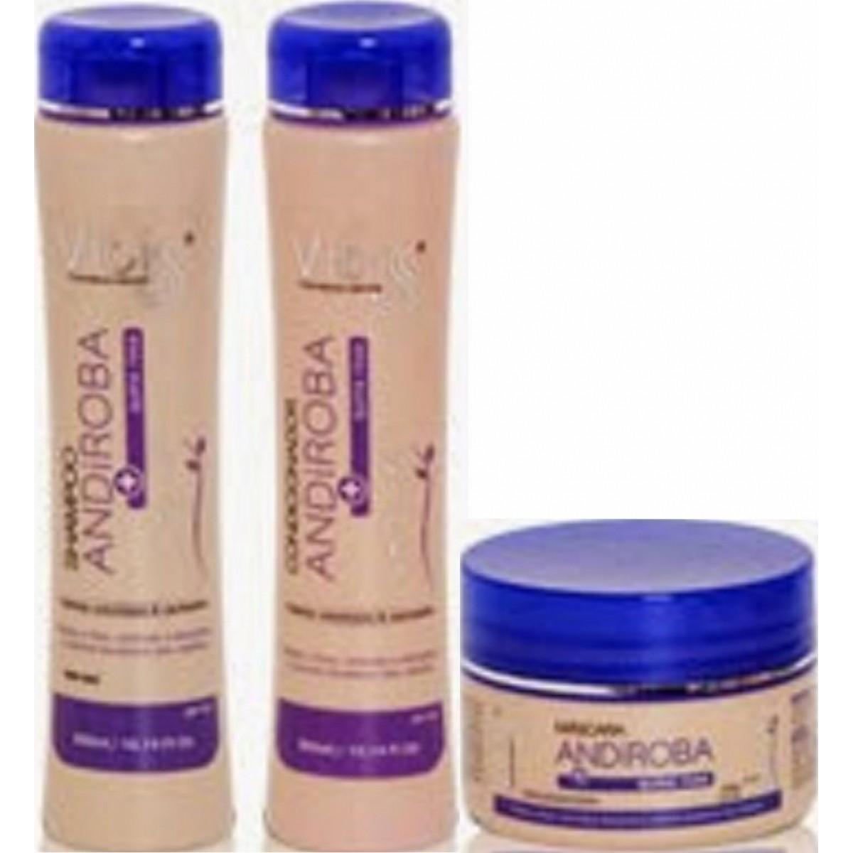 Kit Vitiss Andiroba Shampoo 300ml + Condicionador 300ml + Máscara 250g