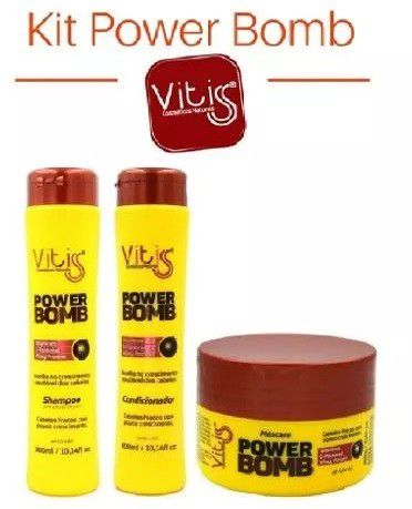 Kit Vitiss Power Bomb Shampoo 300ml + Condicionador 300ml + Máscara 250g