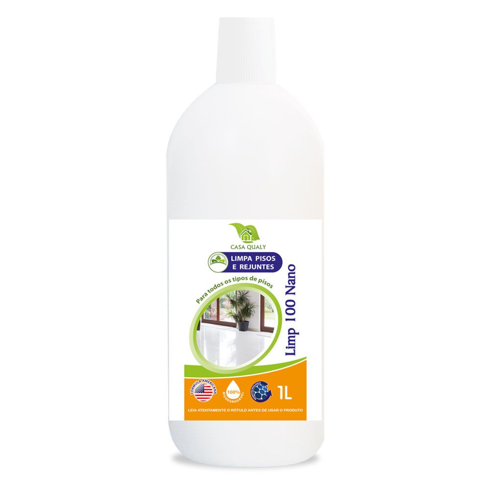 Limpa Pisos e Rejuntes - Limp 100 nano - 1 litro - Casa Qualy