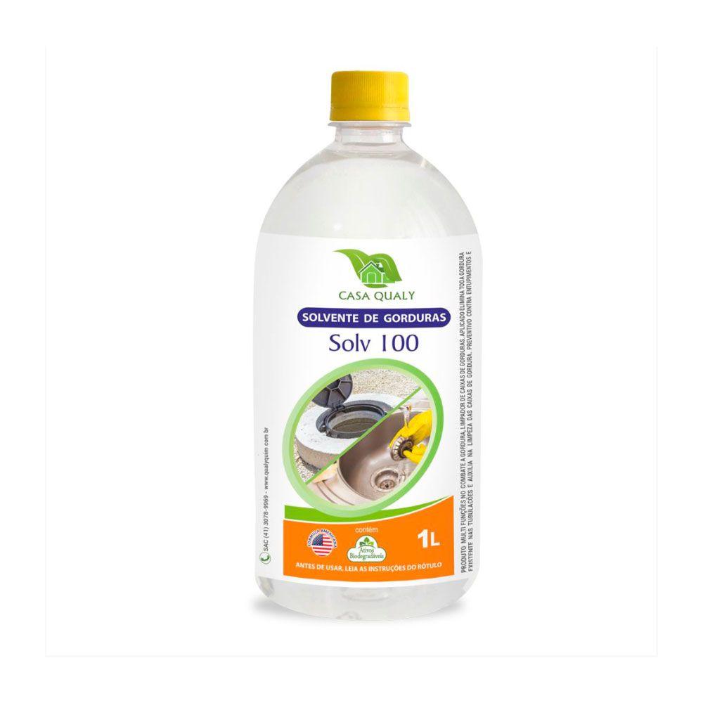 Limpador de Caixa de Gordura - Solv 100 - 1 litro Casa Qualy