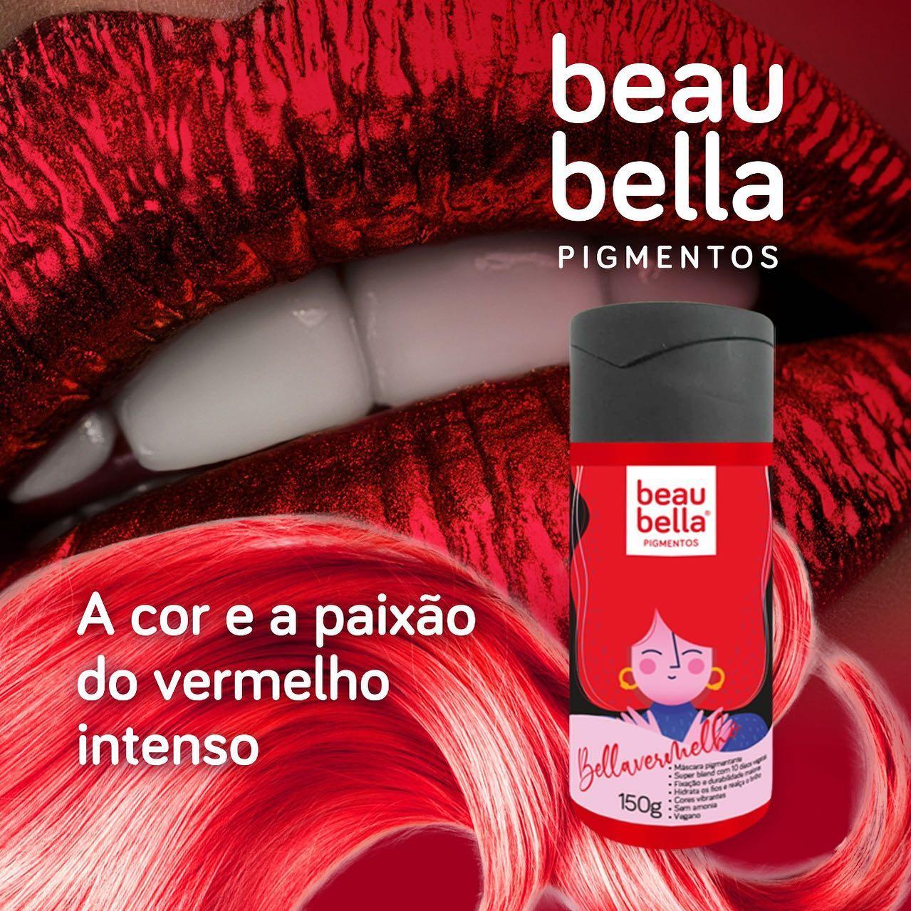 Máscara Pigmentante Beau Bella Bellavermelho - 150g