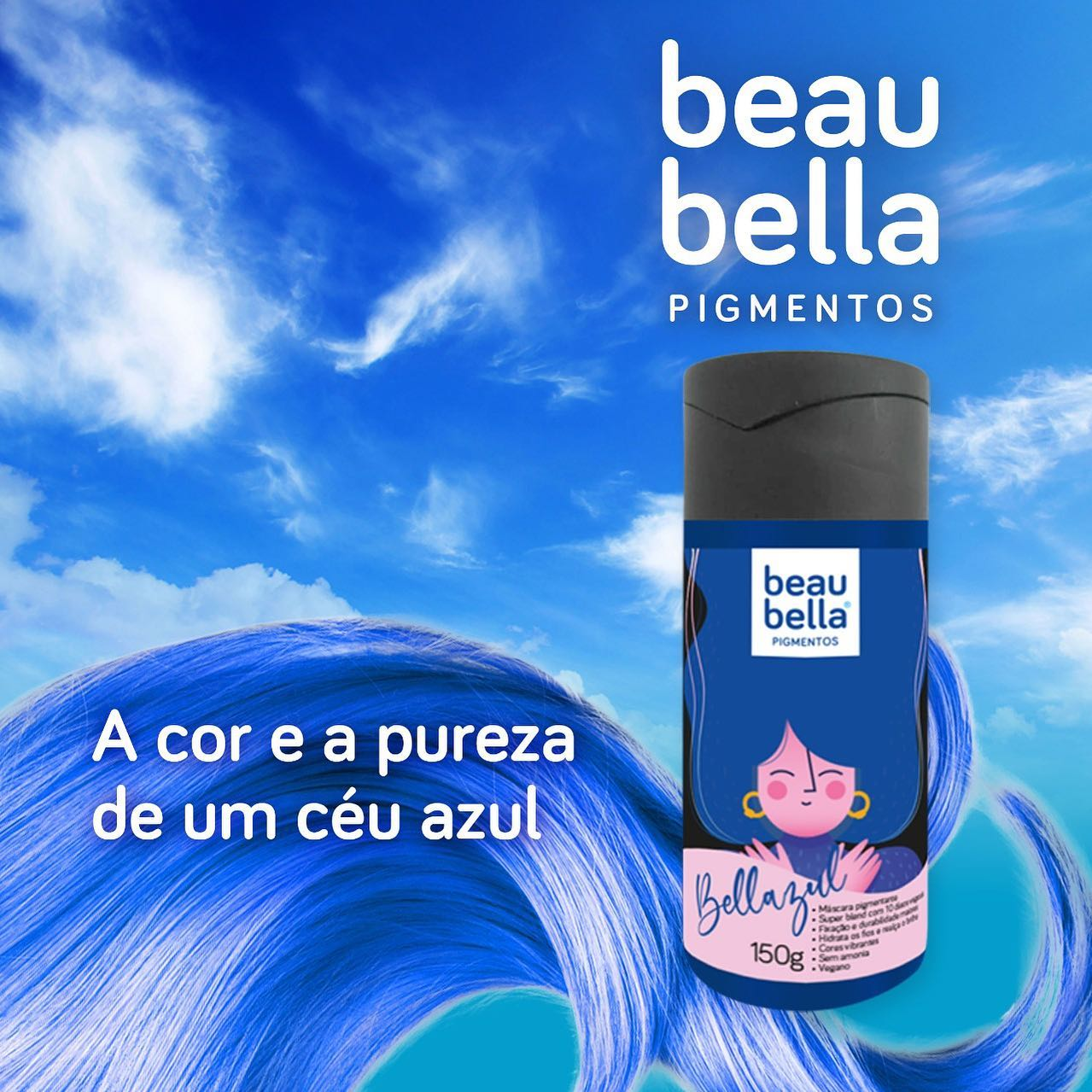 Máscara Pigmentante Beau Bella Bellazul - 150g