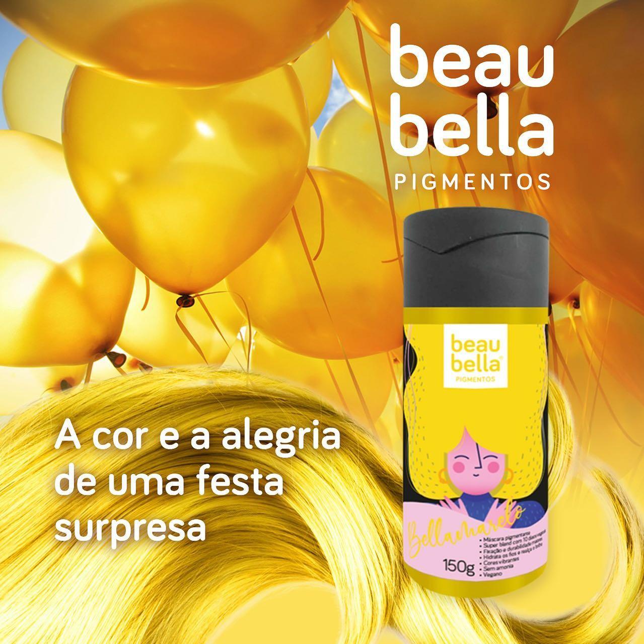 Máscara Pigmentante Beau Bella Bellamarelo - 150g