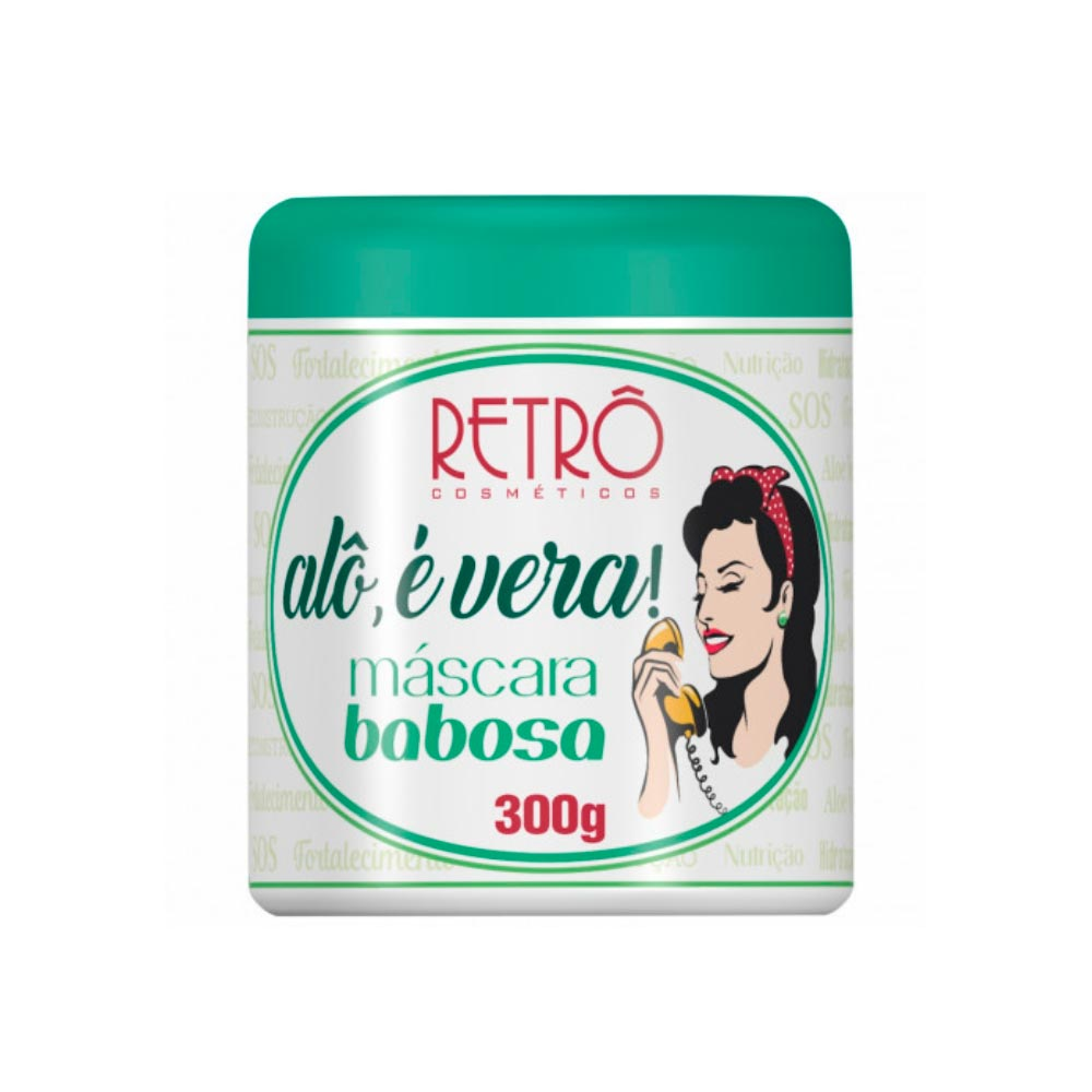Máscara Retrô Alô, É Vera! Babosa 300g