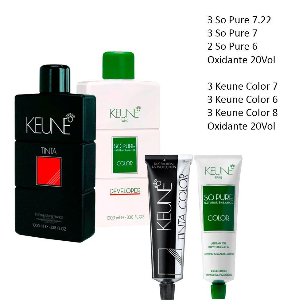 Mega Kit Keune So Pure e Keune Color Colorações e Oxidantes