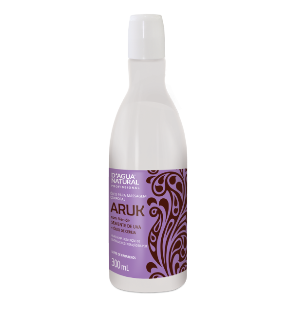 Óleo Massagem Aruk Semente de Uva 300ml Dagua Natural