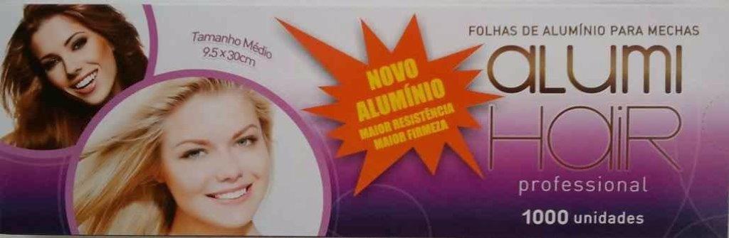 Papel Aluminio Para Mechas Alumi Hair - 1000 Folhas - 9,5x30cm