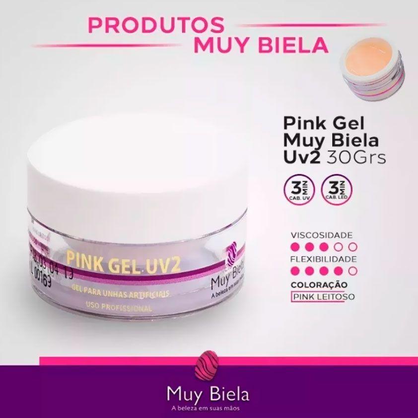 Pink Gel UV2 Muy Biela 30g