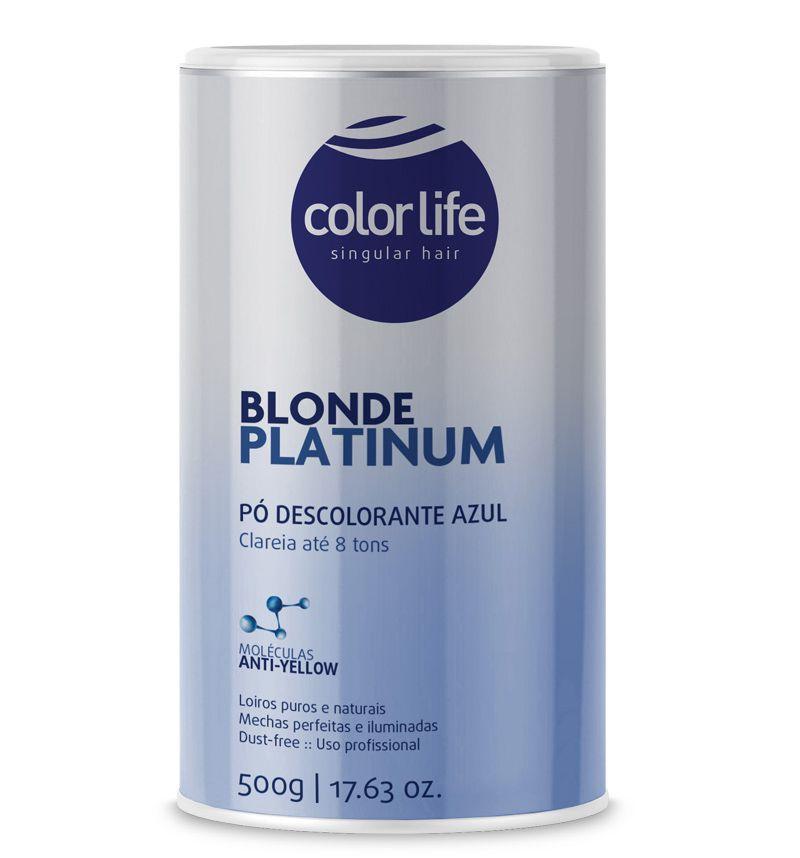 Pó Descolorante Blonde Platinum Color Life 500g