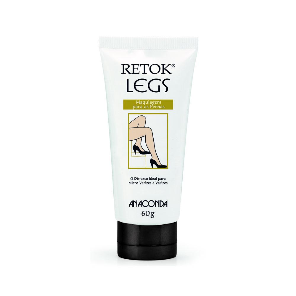 Retok Legs Anaconda Base Para As Pernas - 60g - Bronzeado Escuro