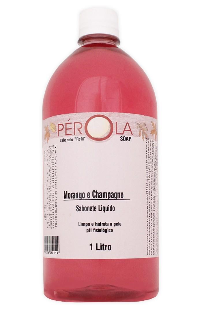 Sabonete Liquido Morango Pérola 1L