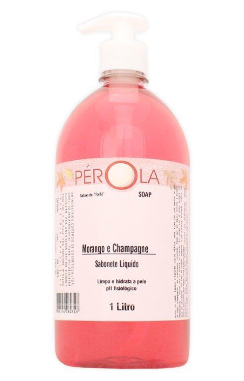 Sabonete Liquido Morango Pérola Pump 1L