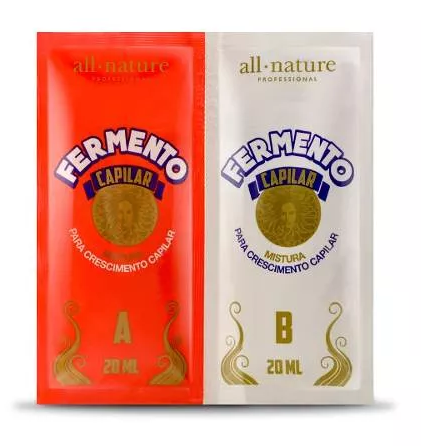 Sache De Fermento Para Crescimento Capilar All Nature 20ml