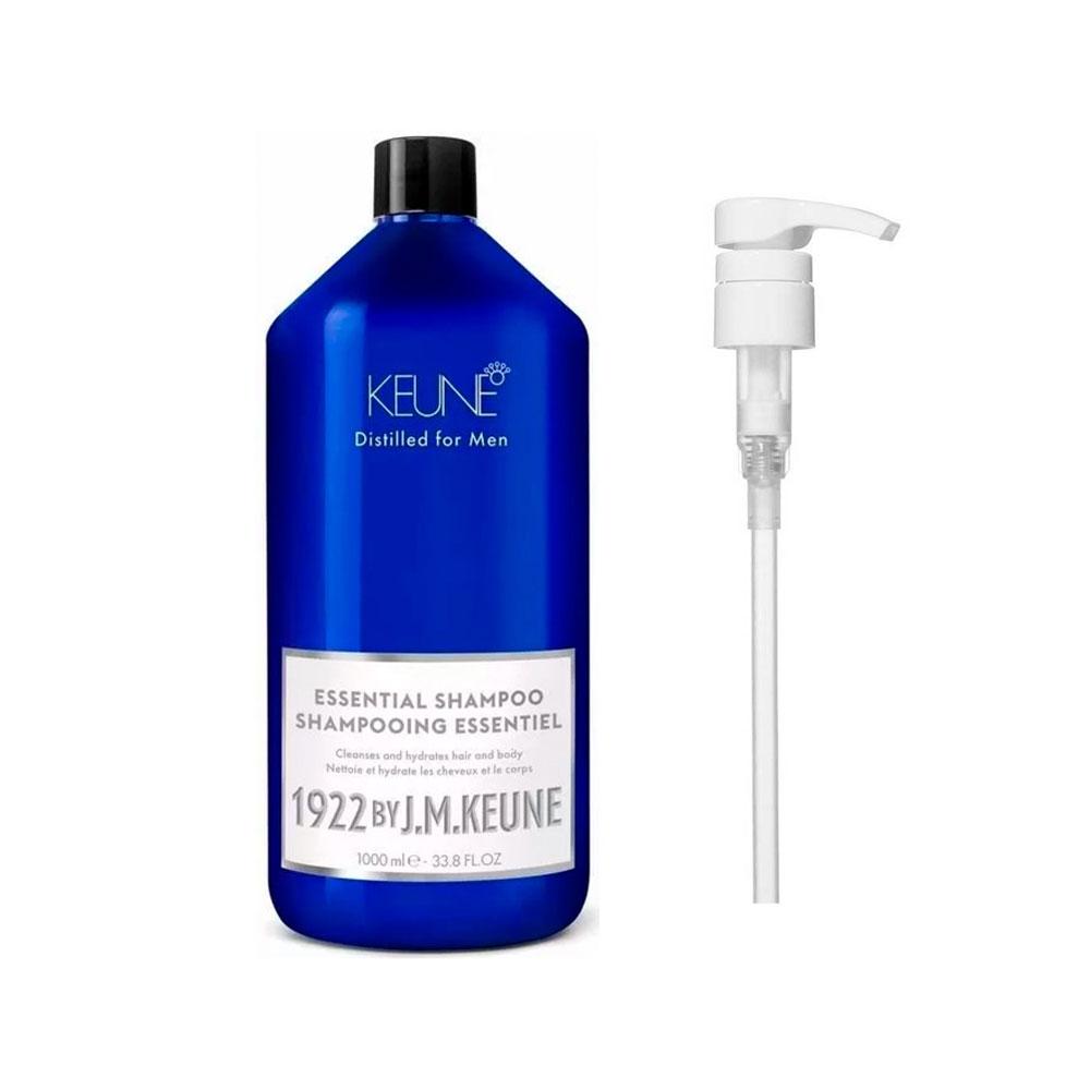 Shampoo Essential 1000ml 1922 J.M Keune + Brinde Pump