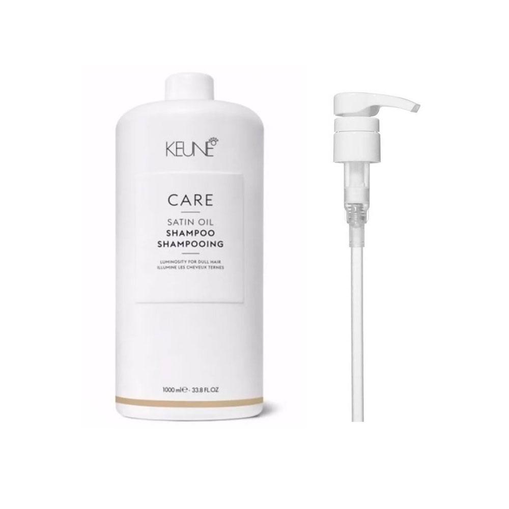 Shampoo Keune Care Line Satin Oil 1000ml + Brinde Pump