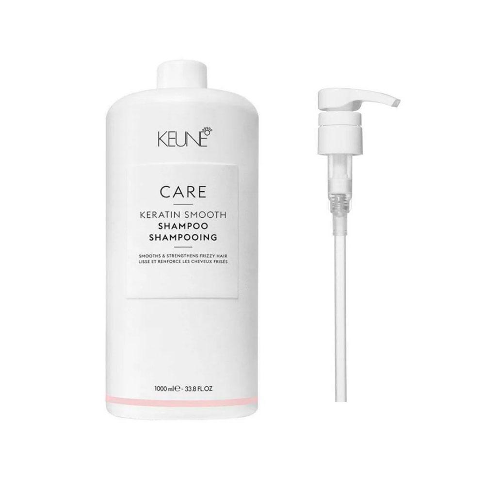 Shampoo Keune Keratin Smooth 1000ml + Brinde Pump