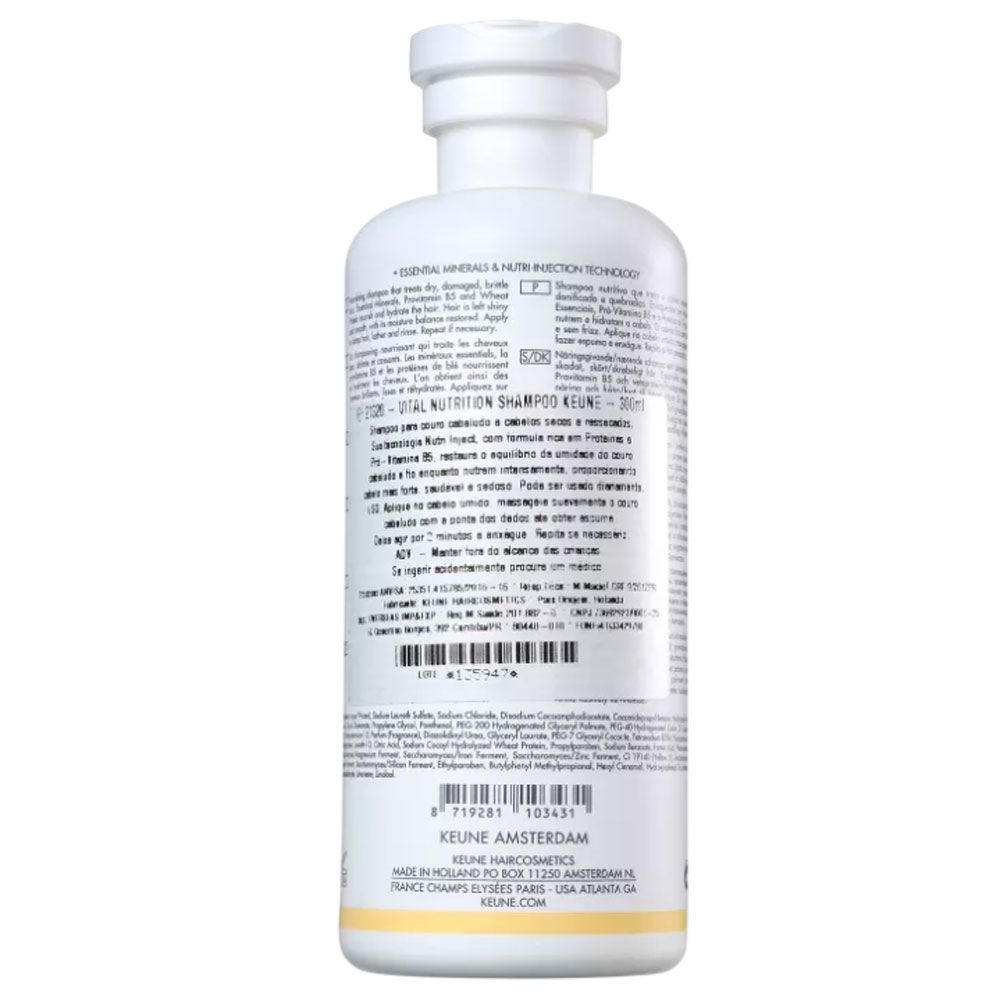 Shampoo Nutritivo Keune Vital Nutrition 300ml