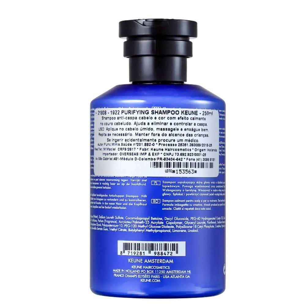 Shampoo Purifying 250ml J.M Keune 1922 Anticaspa