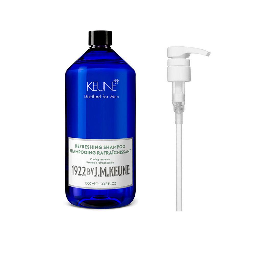 Shampoo Refreshing 1000ml 1922 J.M Keune + Brinde Pump