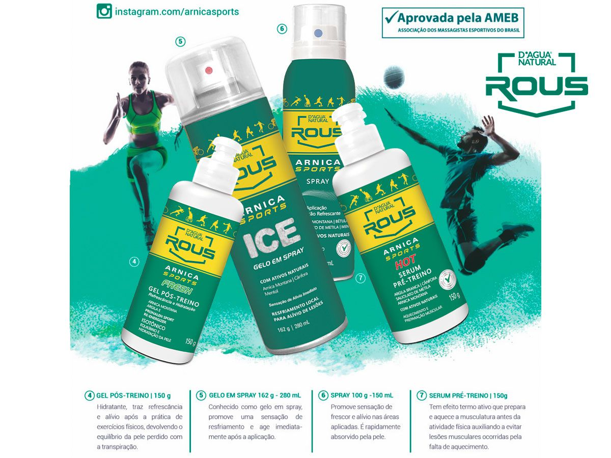 Spray Arnica Sports ICE Aerosol 280ml Dagua Natural