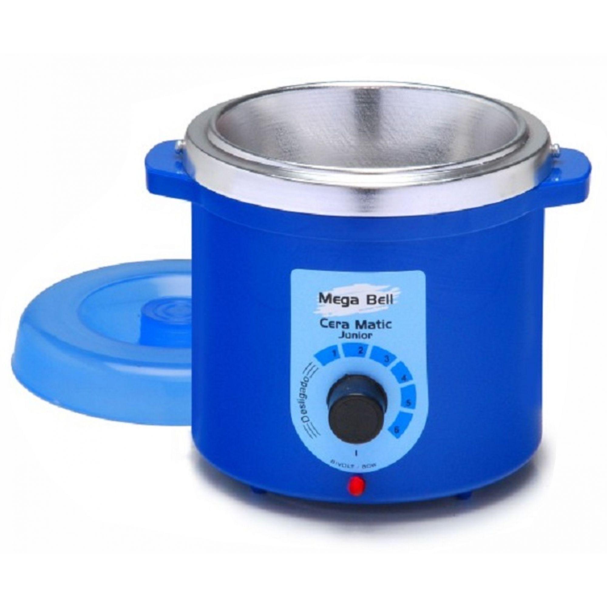 Termocera Aquecedor de Cera Junior 400g Bivolt Mega Bell - Cor Azul