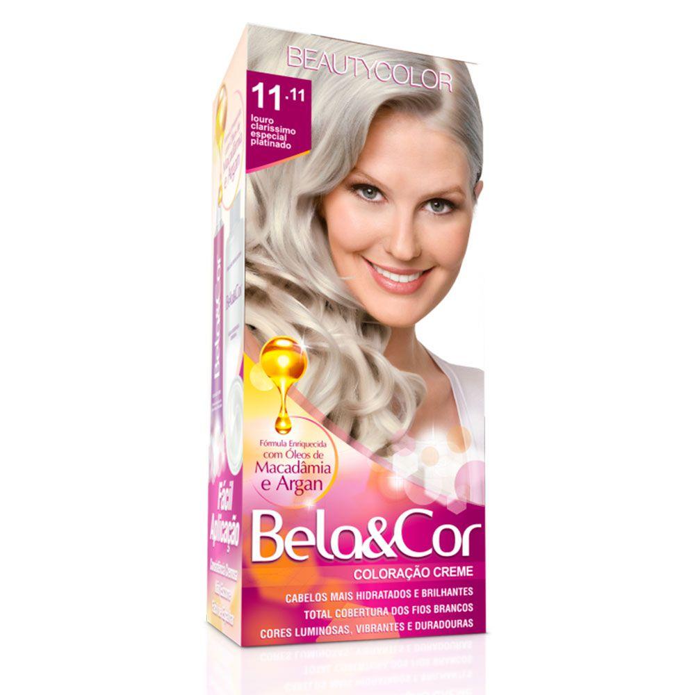 Tinta De Cabelo Beauty Color Bela & Cor 11.11 - Louro Claríssimo Especial Platinado
