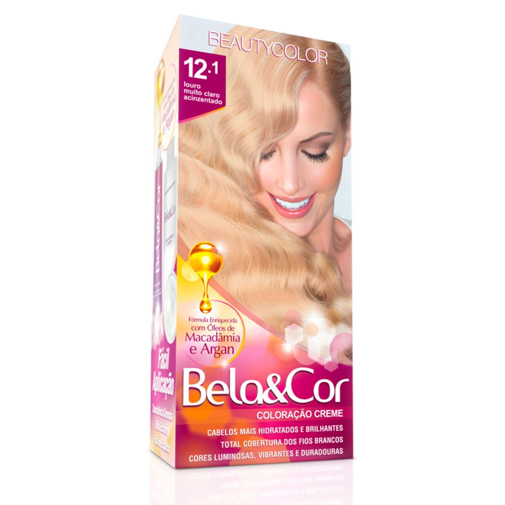 Tinta De Cabelo Beauty Color Bela & Cor 12.1 - Louro Ultra Claríssimo Especial