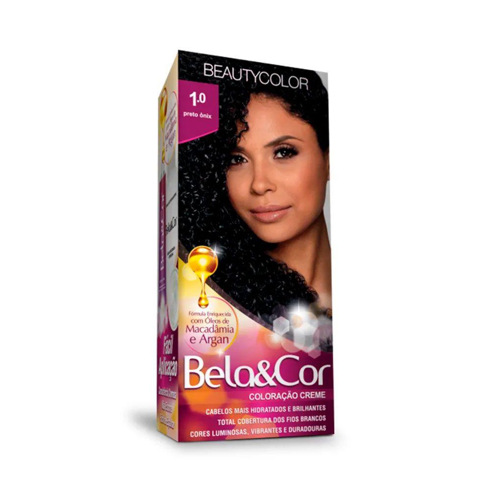Tinta De Cabelo Beauty Color Bela & Cor 1.0 - Preto Ônix