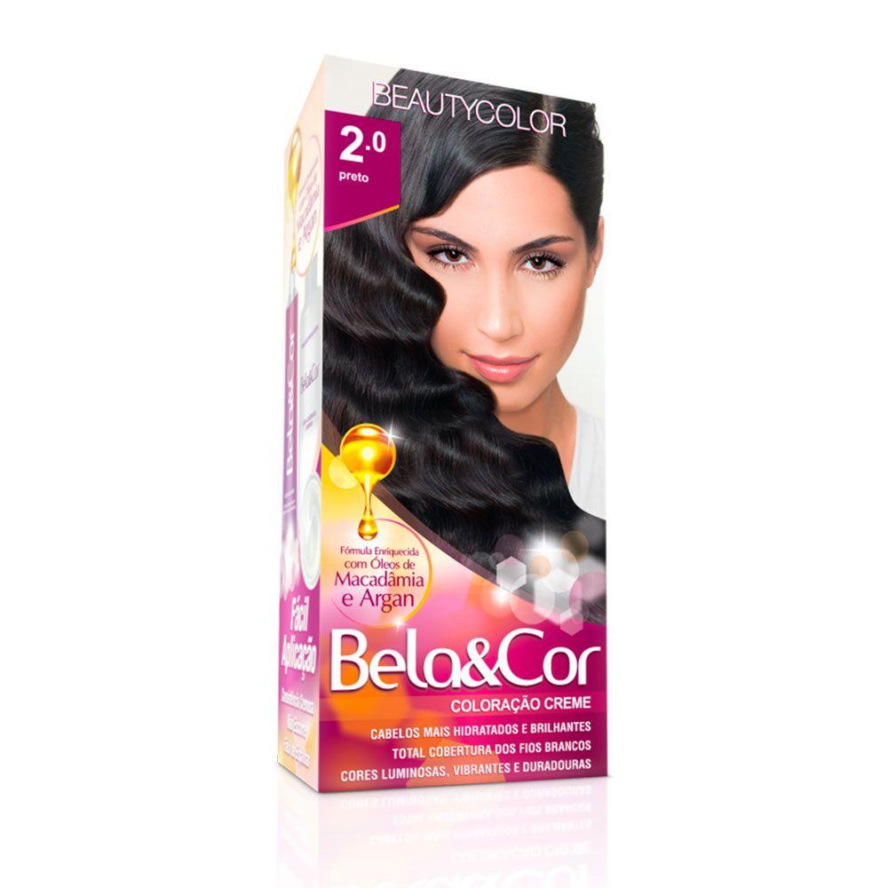Tinta De Cabelo Beauty Color Bela & Cor 2.0 - Preto