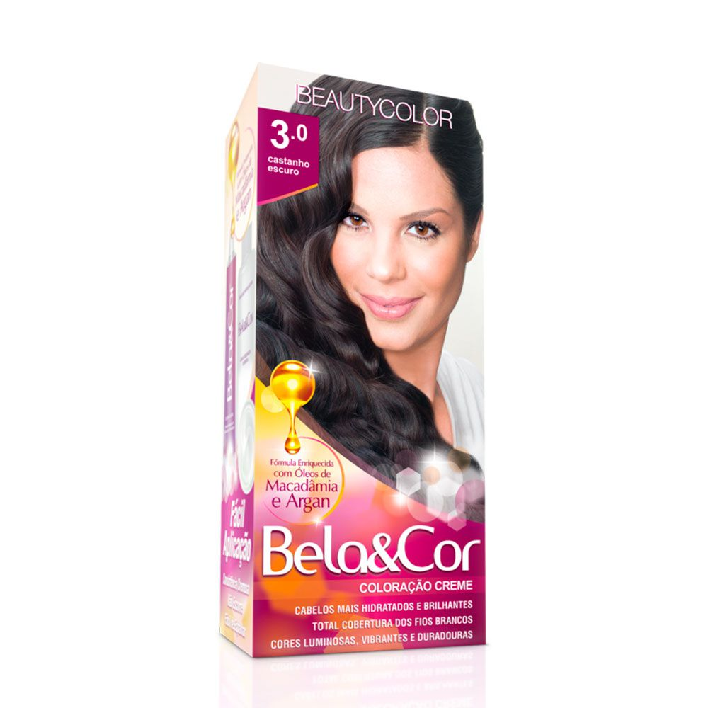 Tinta De Cabelo Beauty Color Bela & Cor 3.0 - Castanho Escuro